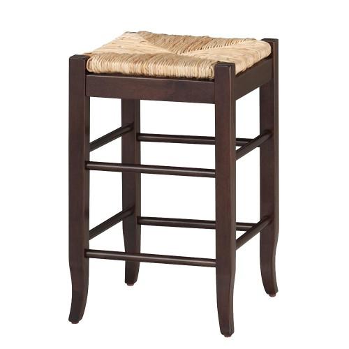 'Rush Seat Barstool Hardwood/Cappuccino - Boraam, Size: 29'' Barstool, Orange'