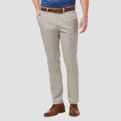 Haggar Men's Premium No Iron Slim Fit Flat Front Casual Pants