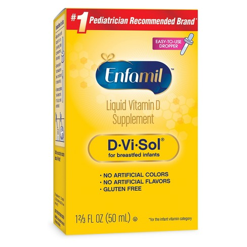 Enfamil® D-Vi-Sol™ Infant Vitamin D Dietary Supplement Liquid Drops - 1.69oz - image 1 of 1