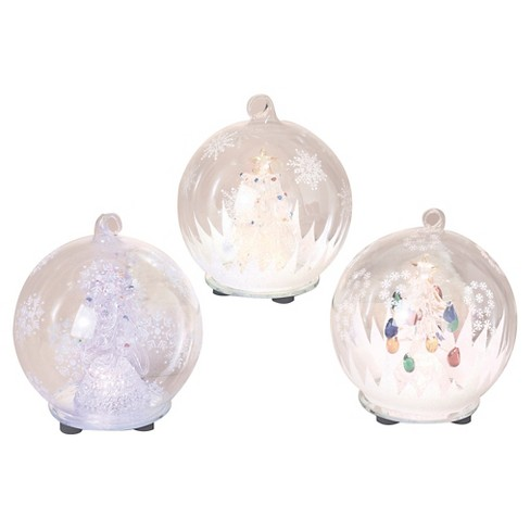 "5.5"" Color Changing LED Glass Globes Assorted Christmas Scenes 3ct - image 1 of 1"