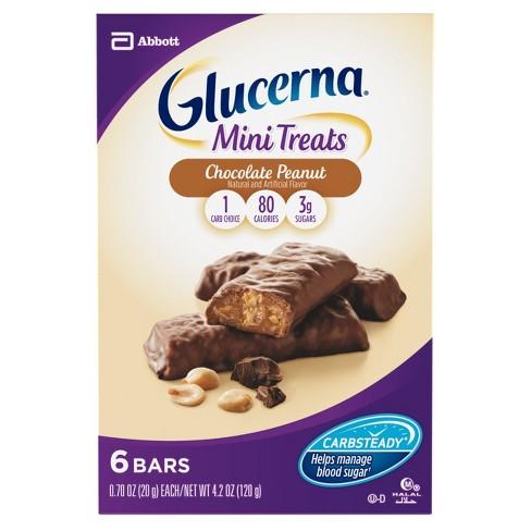 Glucerna Mini Treat Snack Bars Chocolate Peanut Bars - 6pk - image 1 of 4