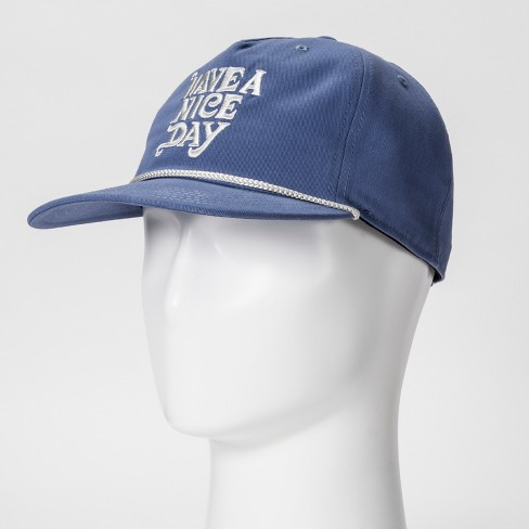 Junk Food Men s Have A Nice Day Baseball Hat - Blue One Size   Target 08a27953842