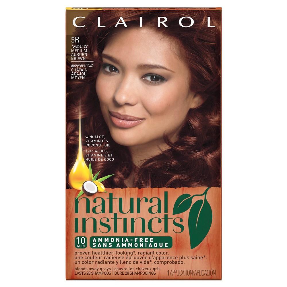 Natural Instincts Clairol Non-Permanent Hair Color - 5R Medium Auburn Brown - 1 kit, Medium Auburn Brown-22