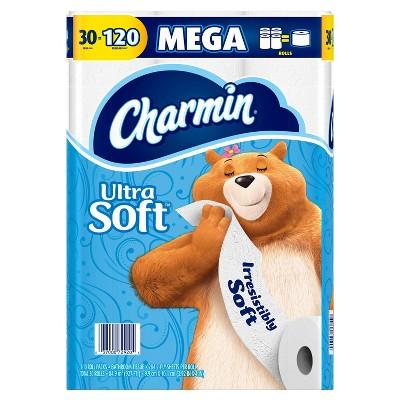 Charmin Ultra Soft Toilet Paper Mega Rolls - 30ct