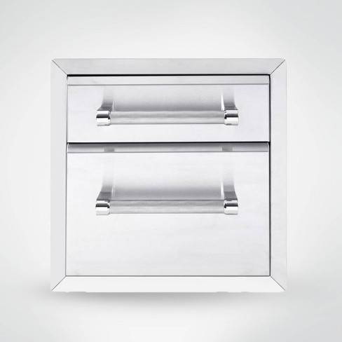 """KitchenAid 18"""" 2-Drawer Outdoor Kitchen Built-In Grill Cabinet - Silver - image 1 of 1"""