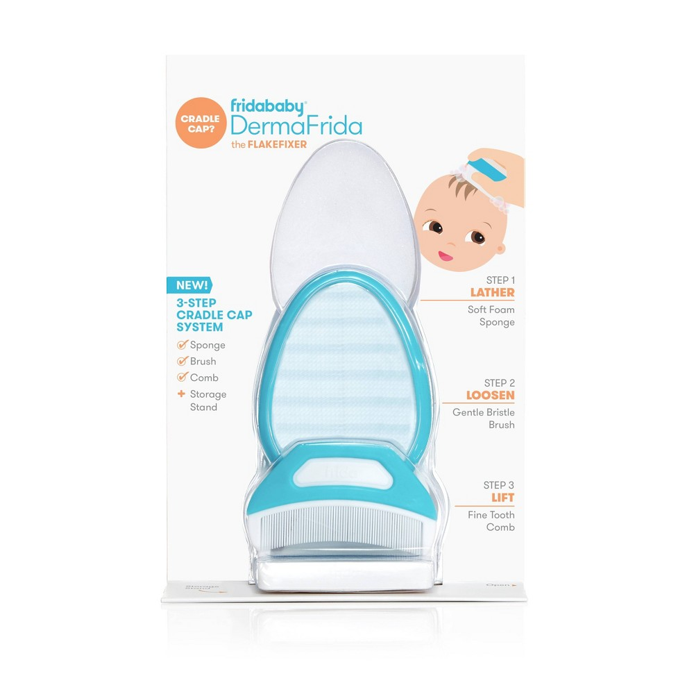Image of Fridababy DermaFrida The FlakeFixer 3-Step Cradle Cap System
