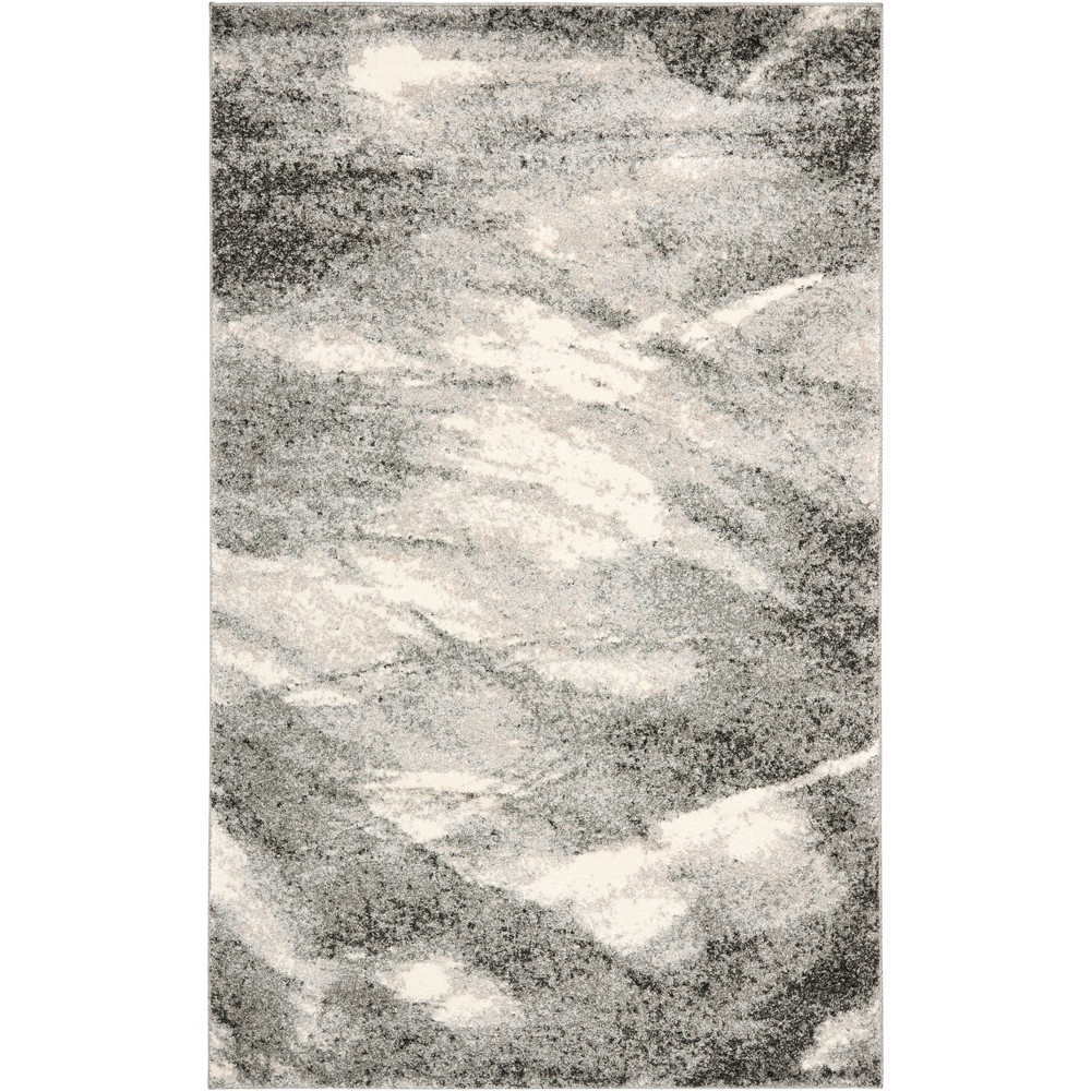 Marble Loomed Area Rug Gray/Ivory