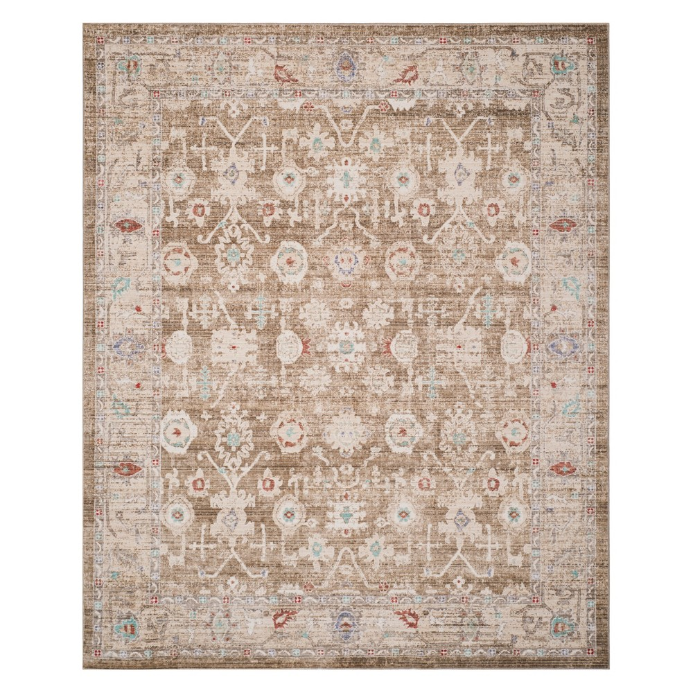 9'X13' Shapes Loomed Area Rug Brown/Ivory - Safavieh