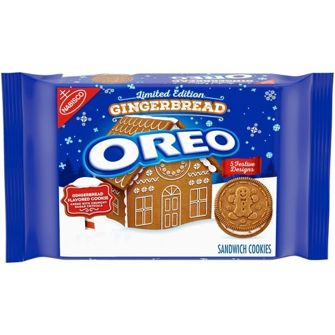 Oreo Limited Edition Gingerbread Sandwich Cookies - 12.2 oz - image 1 of 4