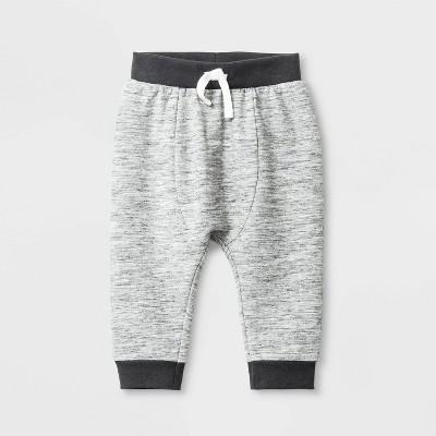 Baby Boys' Knit French Terry Jogger Pants - Cat & Jack™ Gray Newborn