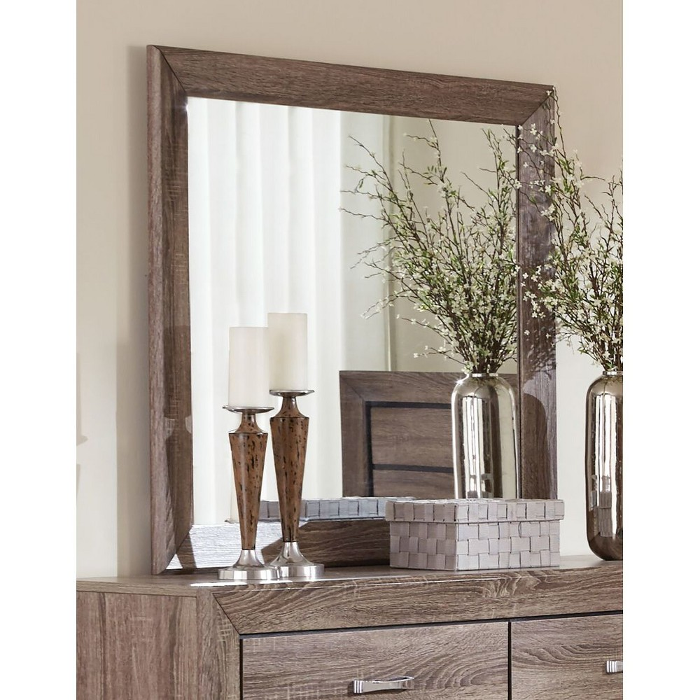 Cuboid Dresser Mirror Washed Taupe - Private Reserve