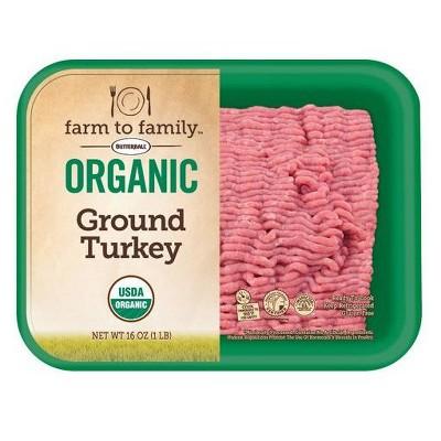 Butterball Farm to Family Organic 90/10 Ground Turkey - 16oz