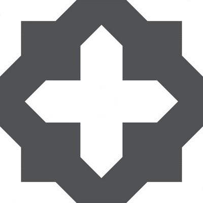 4'x5' Set of 20 Nordic Peel & Stick Floor Tiles Black - Brewster