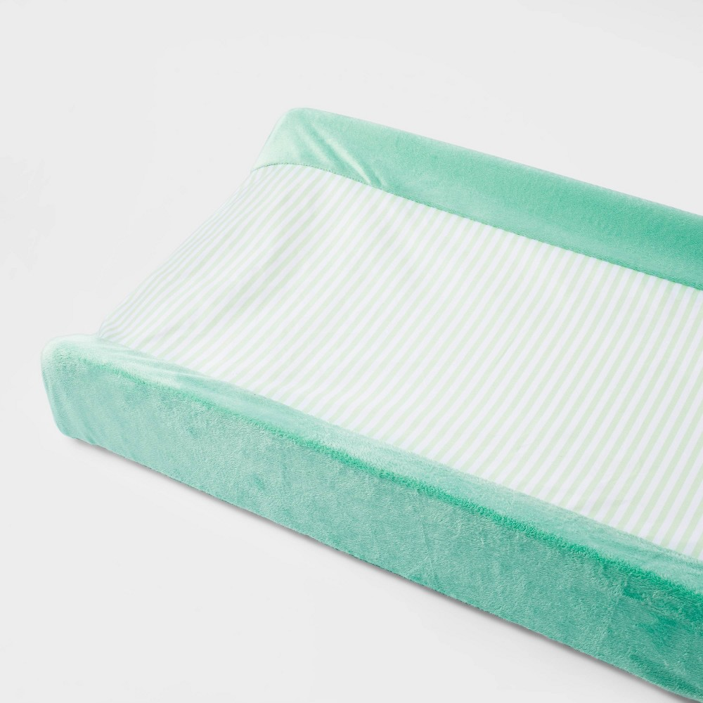 Wipeable Changing Pad Cover Stripe Cloud Island 8482 Green