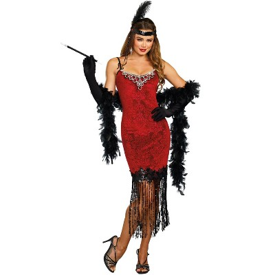 Dreamgirl Ruby Red Flapper Adult Costume