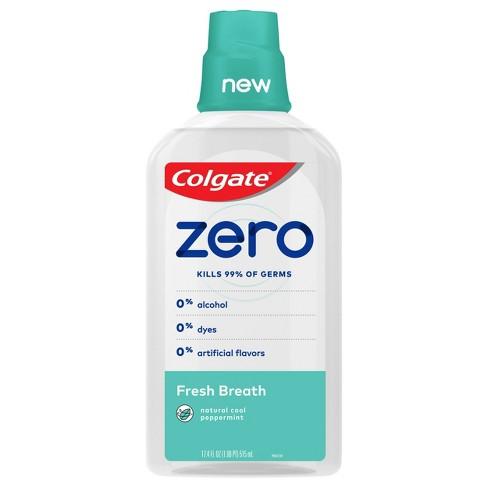 Colgate Zero Mouthwash Fresh Breath - Natural Cool Peppermint - 17.4 fl oz - image 1 of 3