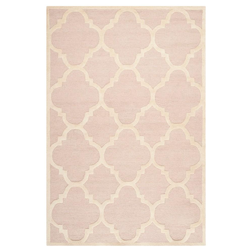 Landon Texture Wool Rug - Light Pink / Ivory (6' X 9') - Safavieh, Light Pink/Ivory