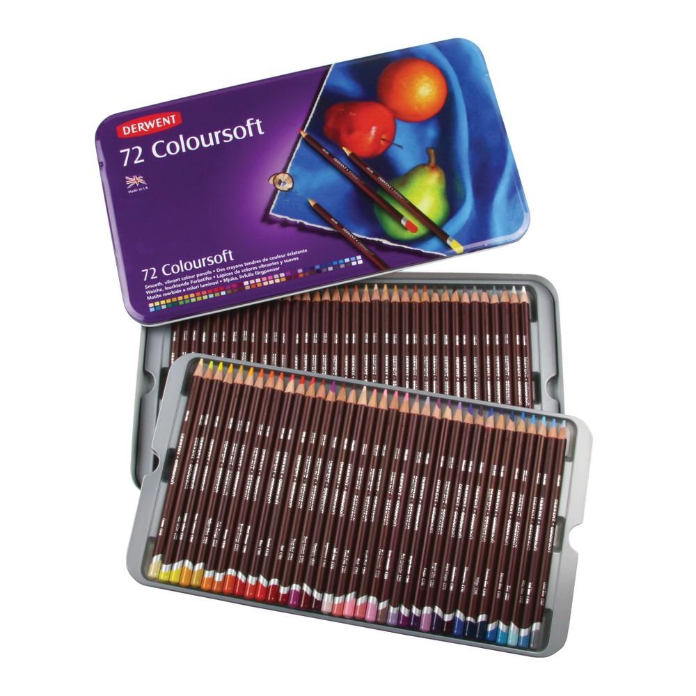 Colored Pencil Set - Derwent Coloursoft 72ct, Multicolored