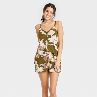 Women's Floral Print Beautifully Soft Cami and Shorts Pajama Set - Stars Above™
