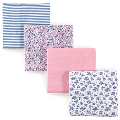 Hudson Baby Unisex Baby Cotton Flannel Receiving Blanket - Classic Floral One Size