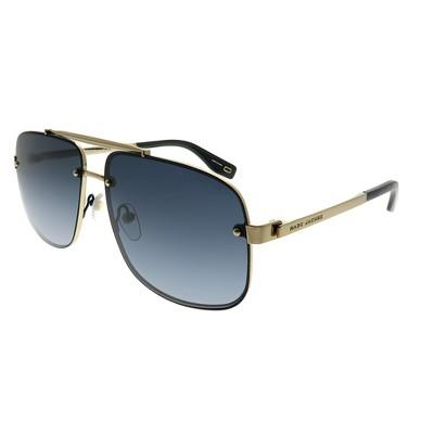 Marc Jacobs  2M2 9O Unisex Aviator Sunglasses Black Gold 61mm