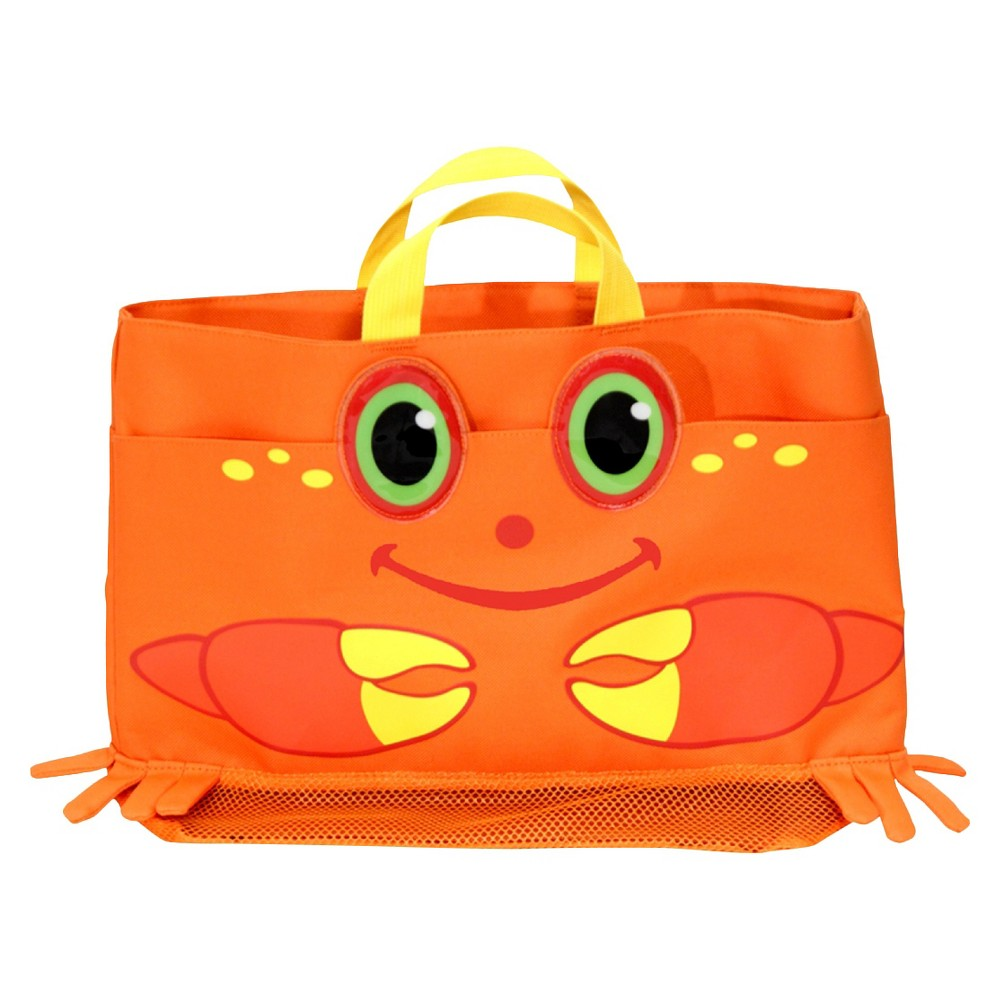 Melissa & Doug Sunny Patch Clicker Crab Large Beach Tote Bag With Mesh Panels, Infant Unisex, Brown