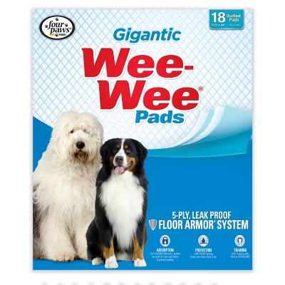 Four Paws Wee-Wee Gigantic Dog Pads - 18ct