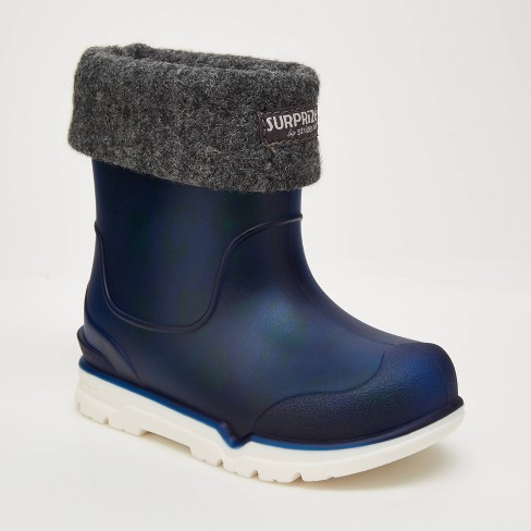 Toddler Boys' Surprize by Stride Rite Conquer Slip-On Rain Boots - Navy - image 1 of 4