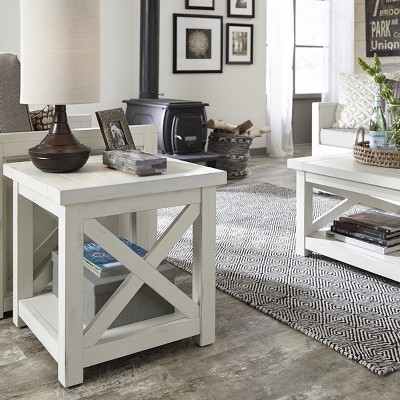 Seaside Lodge End Table - White - Home Styles