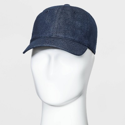 Men's Denim Baseball Hat - Goodfellow & Co™ Dark Blue