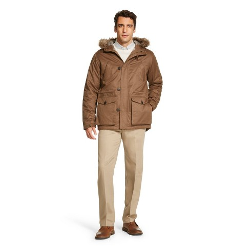 Men's Winter Parka Warm Chocolate - Merona™ M - image 1 of 1