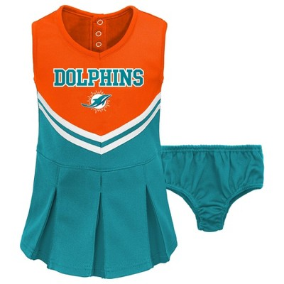 NFL Miami Dolphins Toddler Girls' Cheer Set