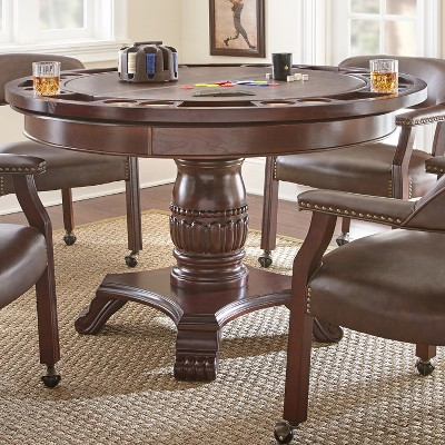 Tournament Dining and Game Table Brown - Steve Silver