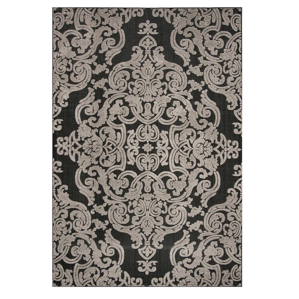 Black Lace Loomed Area Rug 9'X12' - Safavieh