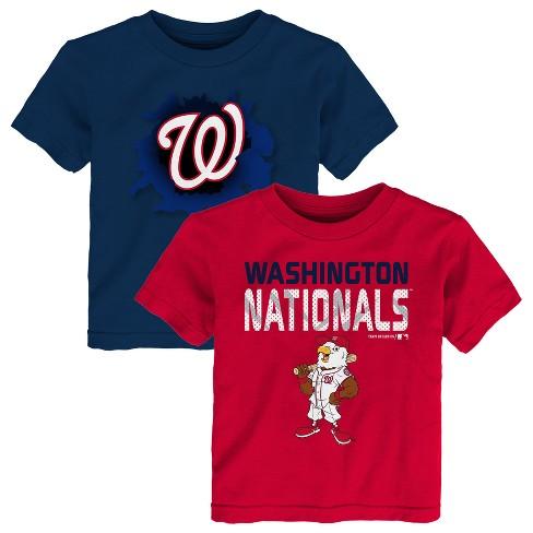 7122185a8f1 Washington Nationals Toddler Boys  2pk Short Sleeve Crew Neck T-Shirt - 2T    Target