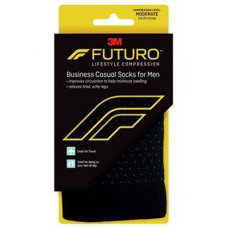 Futuro Mens Business Casual Socks - Black - Large