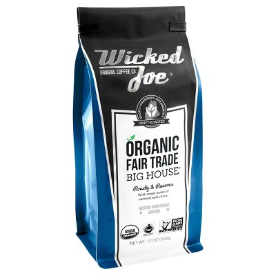 Wicked Joe Coffee Co. Big House Medium Dark Roast Ground Coffee - 12oz