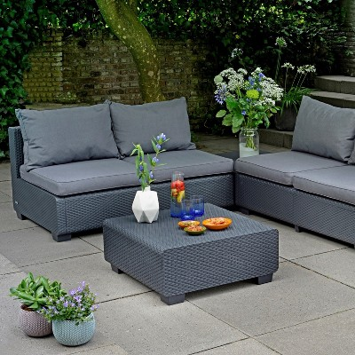 Sapporo Outdoor Resin Patio Coffee Table   Keter