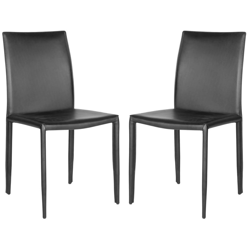 Set of 2 Geneva Dining Chair Dark Black - Safavieh Buy