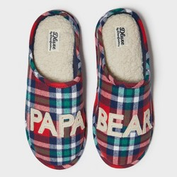 Men's dluxe by dearfoams Papa Bear Slide Slippers - Red