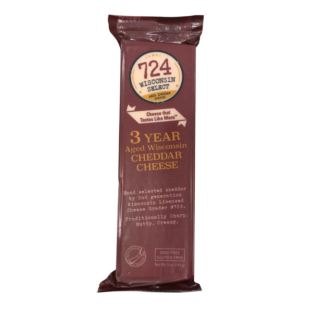 Image of 724 Wisconsin Select 3 Year Aged Wisconsin Cheddar Cheese - 5oz