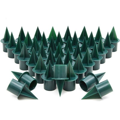 """2.4"""" Green Candle Stakes for Candles Upright on Floral Foams at Wedding, Briadal Shower and Celebrations, 40 Pack"""