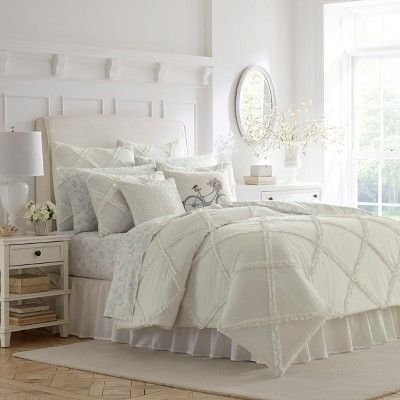 White Adelina Duvet Cover Set - Laura Ashley