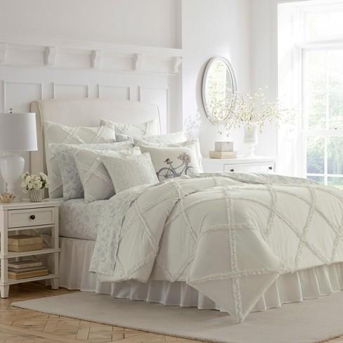 White Adelina Duvet Cover Set - Laura Ashley - image 1 of 3