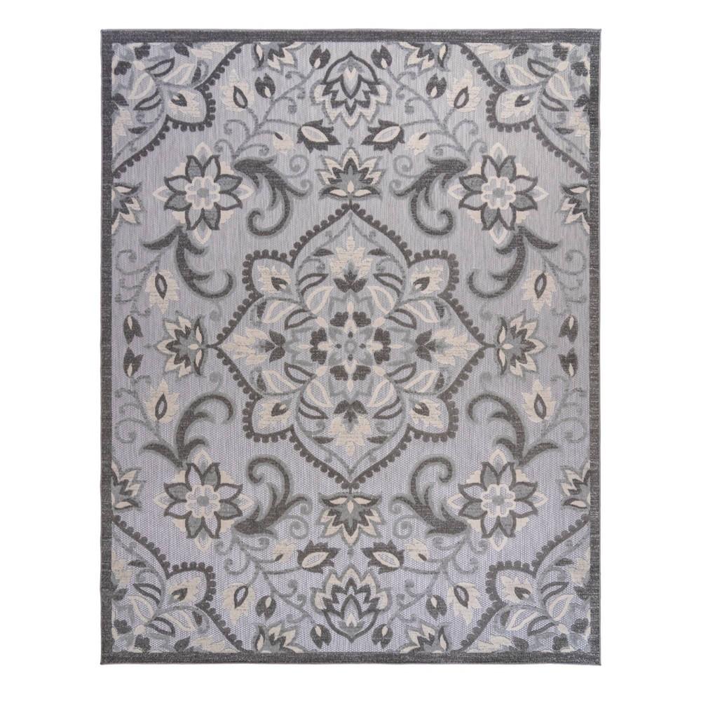 Image of 5'x7' Fosel Dijon Outdoor Rug Gray - Gertmenian