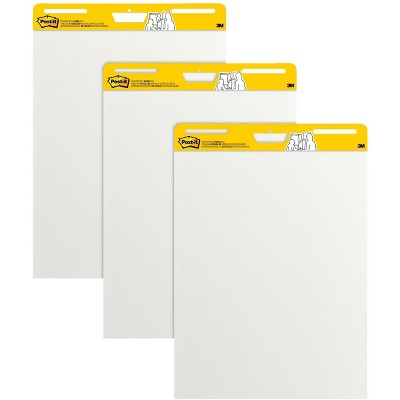 """Post-it Super Sticky Easel Pad 25"""" x 30"""" White 3 Pads/Pack (559 VAD20 3PK)"""