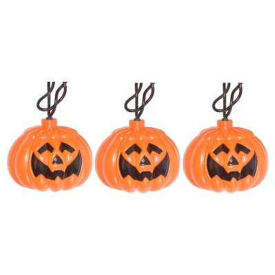 10ct Incandescent Halloween Jack-O-Lantern Lights - Clear - Hyde and Eek! Boutique™