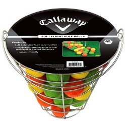 Callaway Soft Flite Practice Ball Range Basket - Sliver