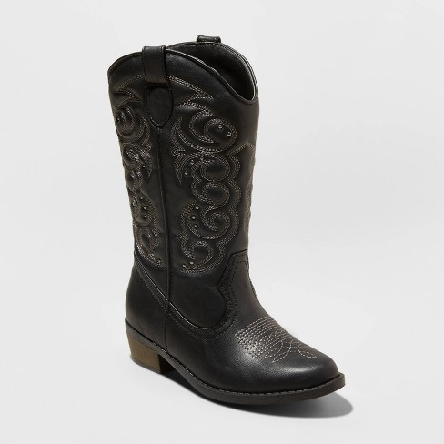 Girls' Meadow Fashion Boots - Cat & Jack™ Black - image 1 of 3