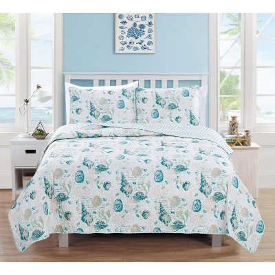 Home Fashion Designs Westsands Coastal Beach Theme Quilt Set